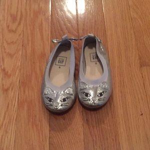 Silver kitties flats 6
